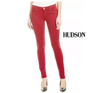 HUDSON KRISTA WAX SUPER SKINNY CHEW COLOR JEANS